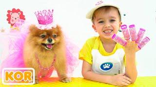 니키타와 엄마 애완 동물 살롱을 재생하고 드레스