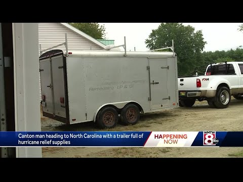Mainer fills trailer with hurricane relief supplies, heading to North Carolina