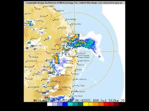 Brisbane Storms 16th December 2010 - 512 Kilometre Radar