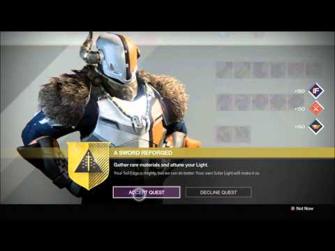 planet destiny how to get exotic sword