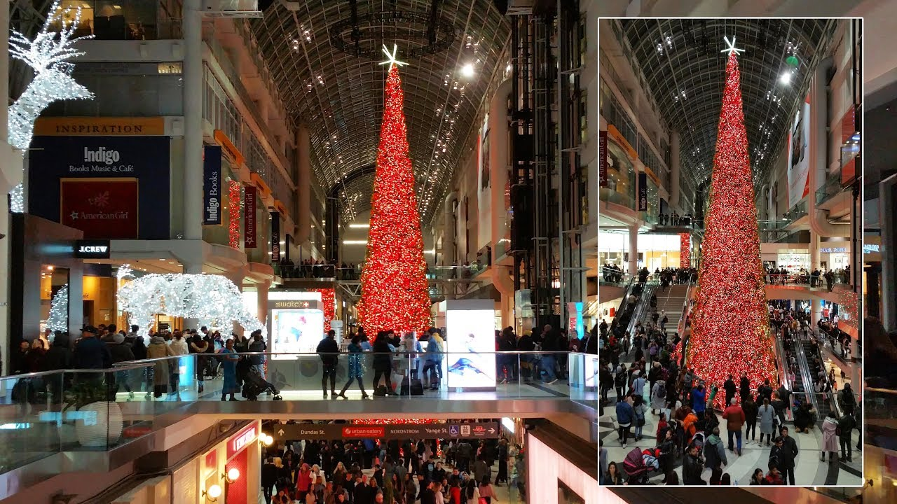 World's Tallest Christmas Tree At Eaton Centre 2017