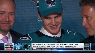 Sharks select Norris 19th overall