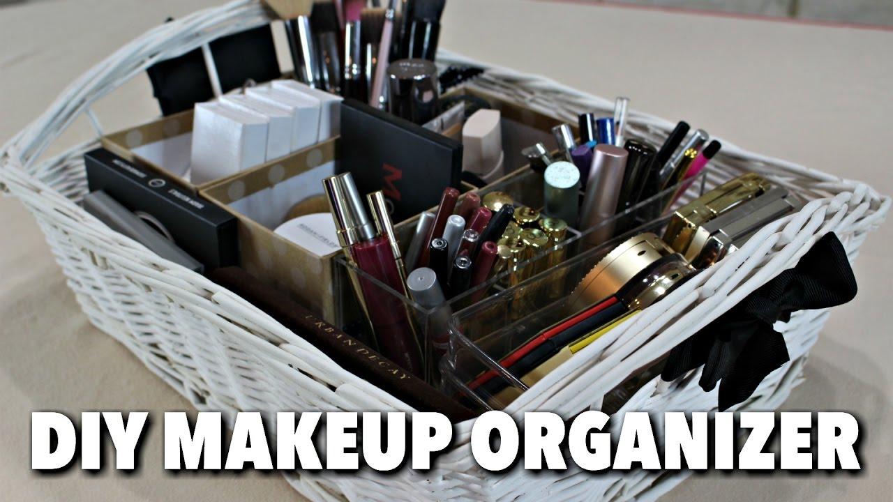 Diy makeup organizer hgtv handmade youtube solutioingenieria Choice Image