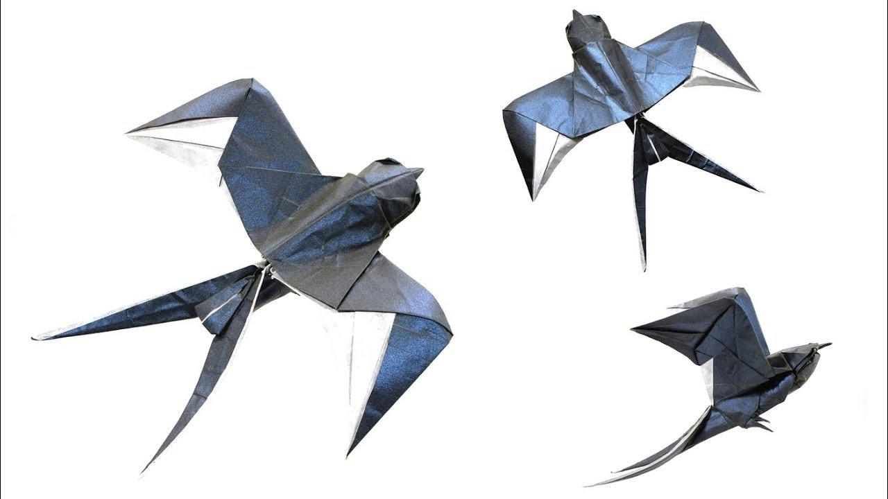 Origami Swallow Tutorial Mariano Zavala B 折り 紙 つばめ Golondrina оригами ласточка