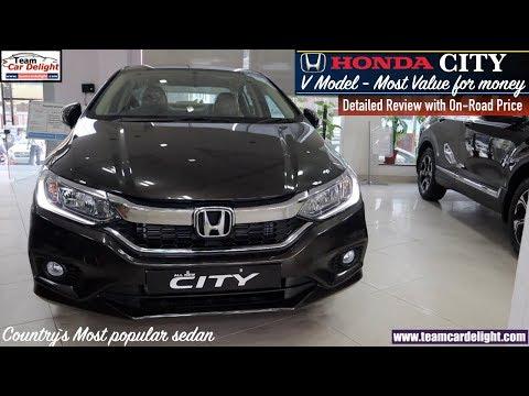 Honda City V Model Detailed Review with On Road Price | Honda City V