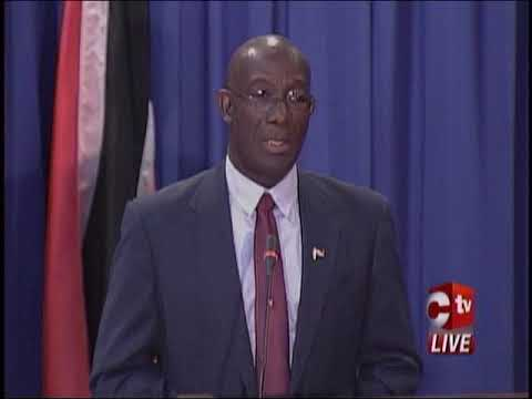 Prime Minister Rowley's Press Conference After Widespread Flooding In Trinidad