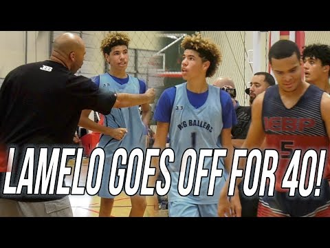 LaMelo Was UNSTOPPABLE! 40 Point SCORING RAMPAGE To SAVE Big Ballers VS Tough Team!