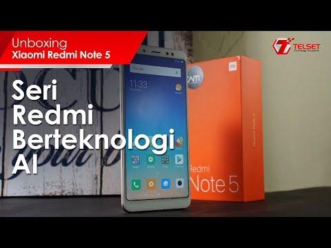 UNBOXING Xiaomi Redmi Note 5 Indonesia : Seri Redmi Berteknologi AI