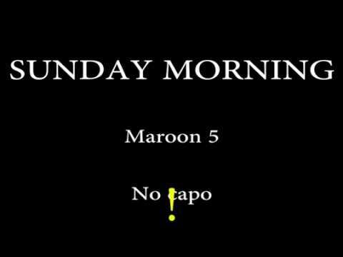 SUNDAY MORNING - MAROON 5 - Easy Chords and Lyrics - YouTube