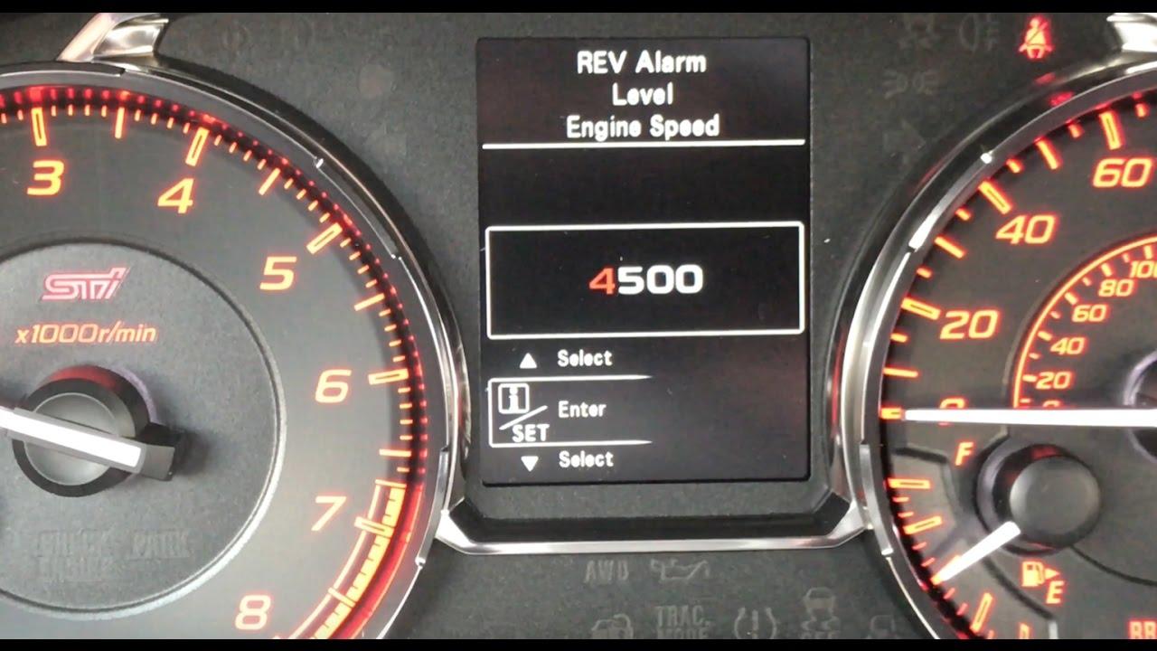 Download 2017 Subaru WRX STI - How To Set The REV Limiter