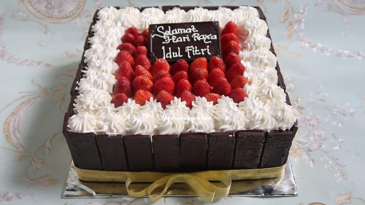 Cara Membuat Kue Blackforest Ucapan Selamat Hari Raya Idul