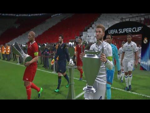 UEFA SUPERCUP REAL MADRID vs SEVILLA PES 2017 GAMEPLAY