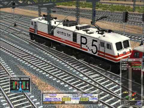 MSTS 12241 Chandigarh - Amritsar SF  Express (Duronto) Loco Reversal At Ambala Cantt. Jn.