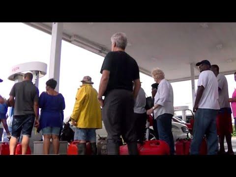 Frustrating Wait For Fuel At Jacksonville, North Carolina, Gas Station After Florence