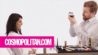Clueless Guys Apply Makeup To Girls For The First Time | Cosmopolitan