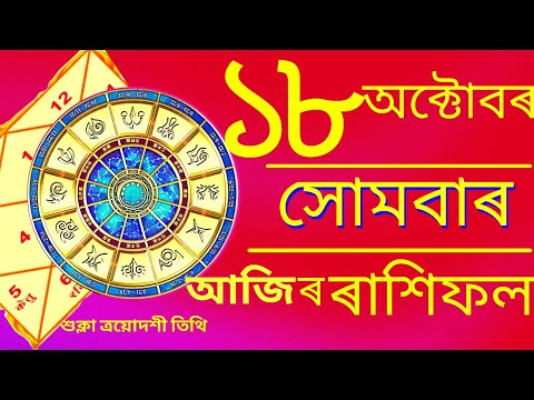 Horoscope 18 October 2021 Monday aries to pisces assamese daily rashifal| astrology in assamese