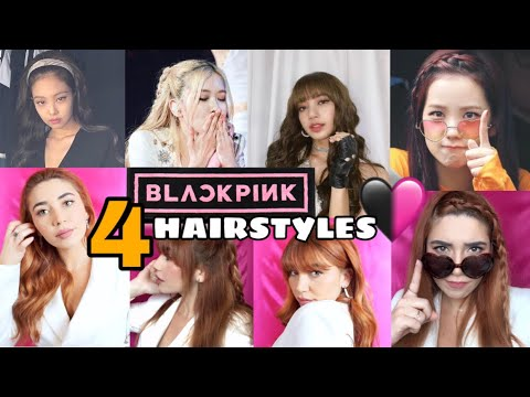 4 EASY BLACKPINK HAIRSTYLES - Part 2 ♡ I RRXLL - YouTube