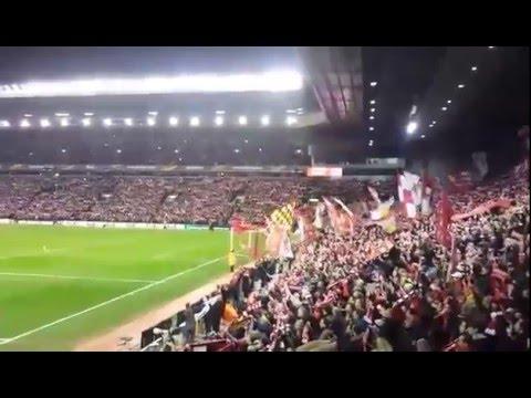 Best European Anfield Kop You'll Never Walk Alone Liverpool FC Vs Man United 10.03.16 Football Video