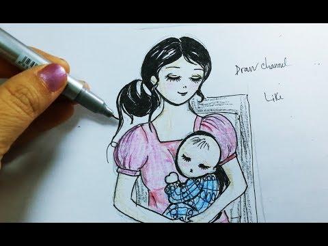 vẽ mẹ và con tại kienthuccuatoi.com