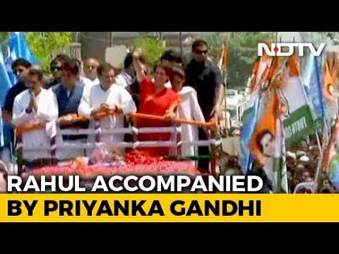 Rahul Gandhi's Amethi Roadshow Before Filing Nomination, Family Joins Him