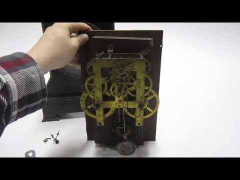 Antique Vintage F.Kroeber 8-Day Movement Mantle Clock Cabinet No.2