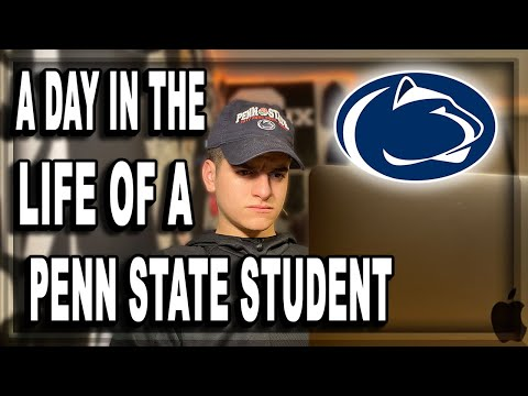 A Day in the Life of a Penn State University Student | College Vlog Life