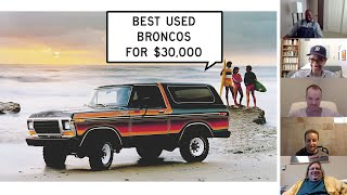 homepage tile video photo for We Find Used Ford Broncos for Less than $30,000: Window Shop with Car and Driver