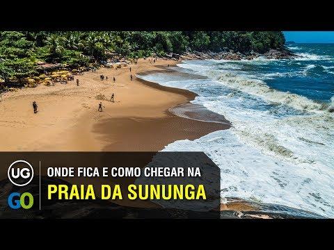 Onde fica e Como chegar na Praia da Sununga em Ubatuba a partir da Praia Grande