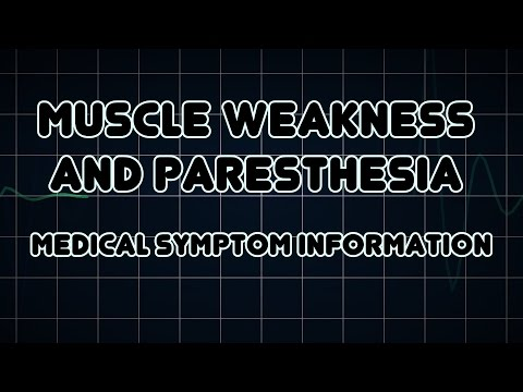 Muscle Weakness And Paresthesia (Medical Symptom)
