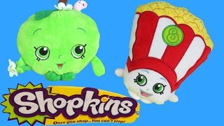 SHOPKINS Plush Toys! Toy Popcorn, Toy Apple, Toy Cookie DANCE, TALK, LAUGH and GOOF around!
