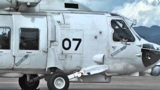 JMSDF SH-60K 8407&10 Engine-Startup~Take-off