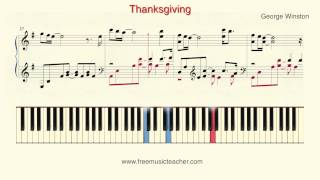 "How To Play Piano: George Winston ""Thanksgiving"" Piano Tutorial by Ramin Yousefi"