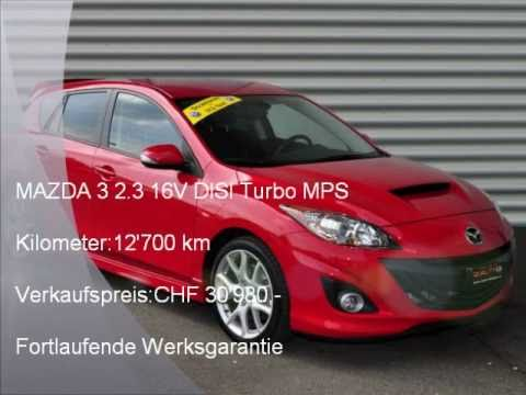 mazda 3 2 3 16v disi turbo mps m 990 autohaus schiess ag occasion youtube. Black Bedroom Furniture Sets. Home Design Ideas
