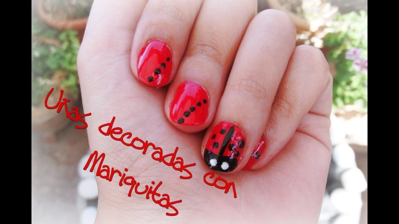 Nail art u as decoradas con mariquitas youtube - Ver unas decoradas ...