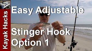Live Bait Adjustable Stinger Hook for Different Lengths of Live Bait - Option 1
