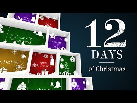 Twelve Days of Christmas  After Effects Template + FREE music!