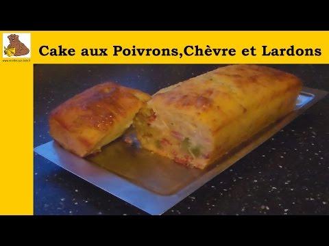 cake-salé-aux-poivrons,chèvre-et-lardons-(recette-facile)