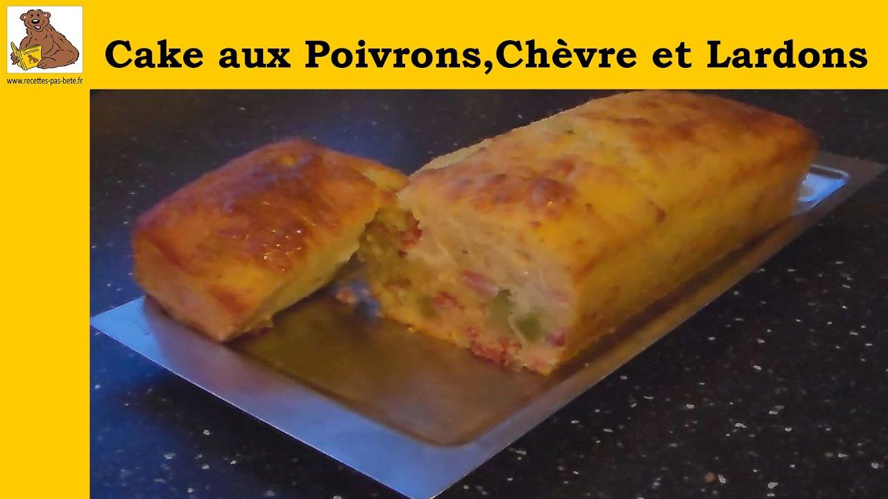 Cake Poivrons Chevre Lardons
