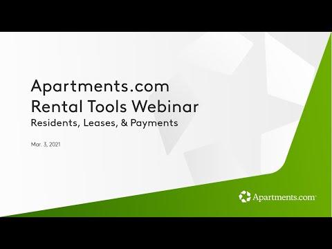 Apartments.com Webinar - Leases & Payments