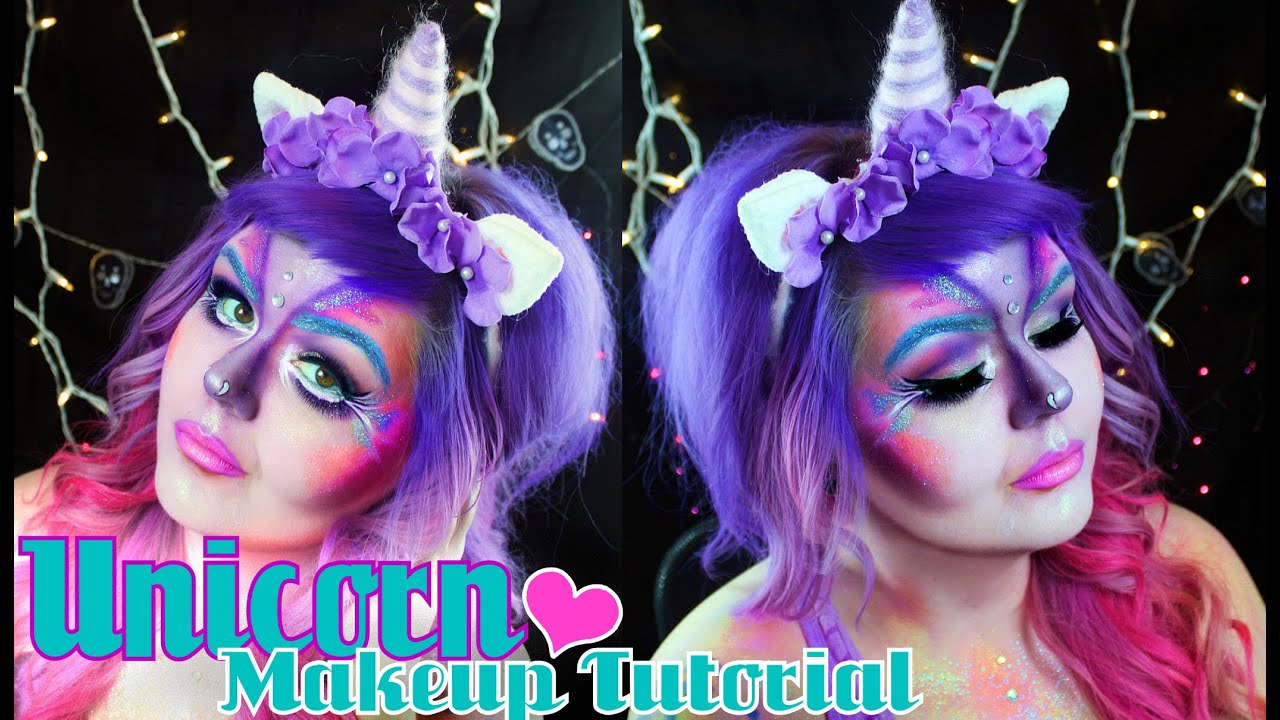 Unicorn Halloween Makeup Tutorial - YouTube