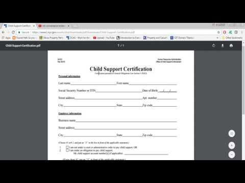 DCA Child Support Certification Form - YouTube