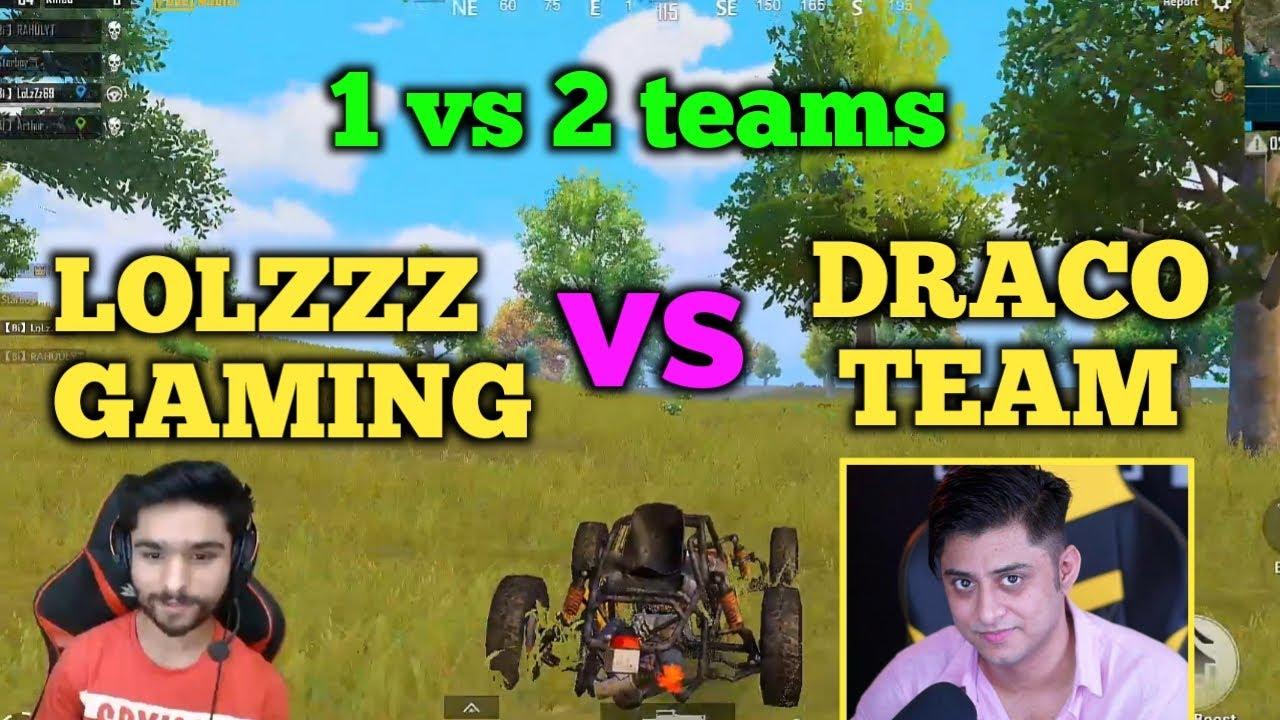 Lolzzz gaming vs Draco team vs bi strange full intense fight in the last zone   Pubg emulator