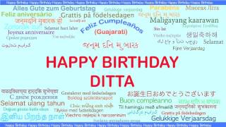 Ditta   Languages Idiomas - Happy Birthday