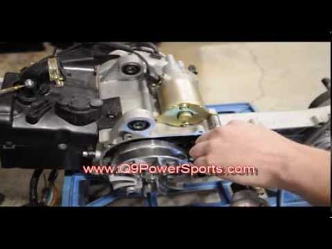 Easily Learn How to Replace the Starter on a ChineseGas Powered 50cc Moped  | Q9 PowerSports USA