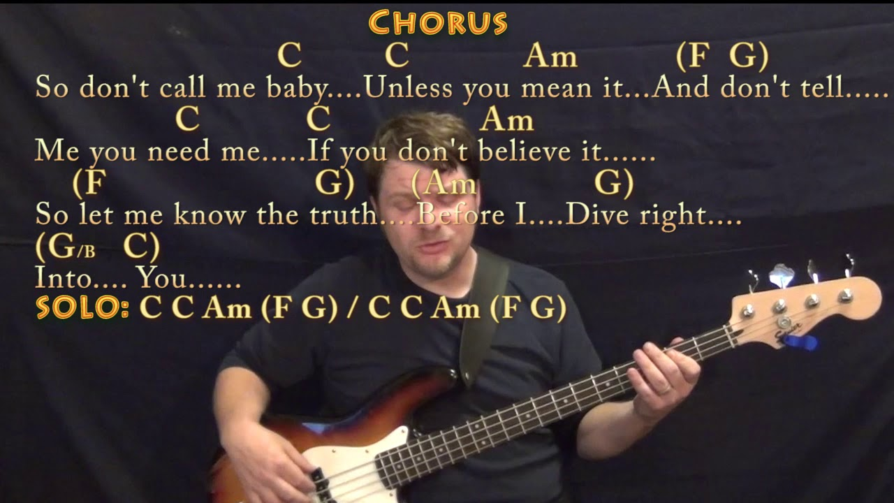 Dive ed sheeran bass guitar cover lesson in c with chords lyrics youtube - Ed sheeran dive chords ...