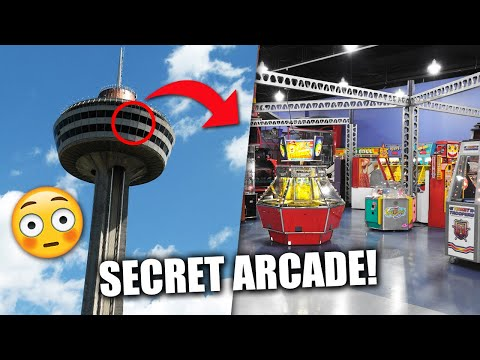 Playing Games In A SECRET Arcade!