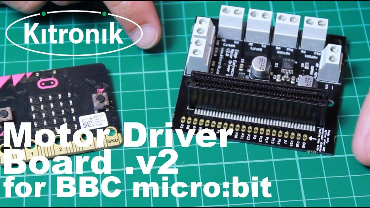 Motor Driver Board for the BBC micro:bit - V2 - YouTube