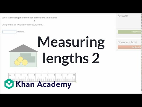 Measuring Lengths 2 | Measurement And Data | Early Math | Khan Academy