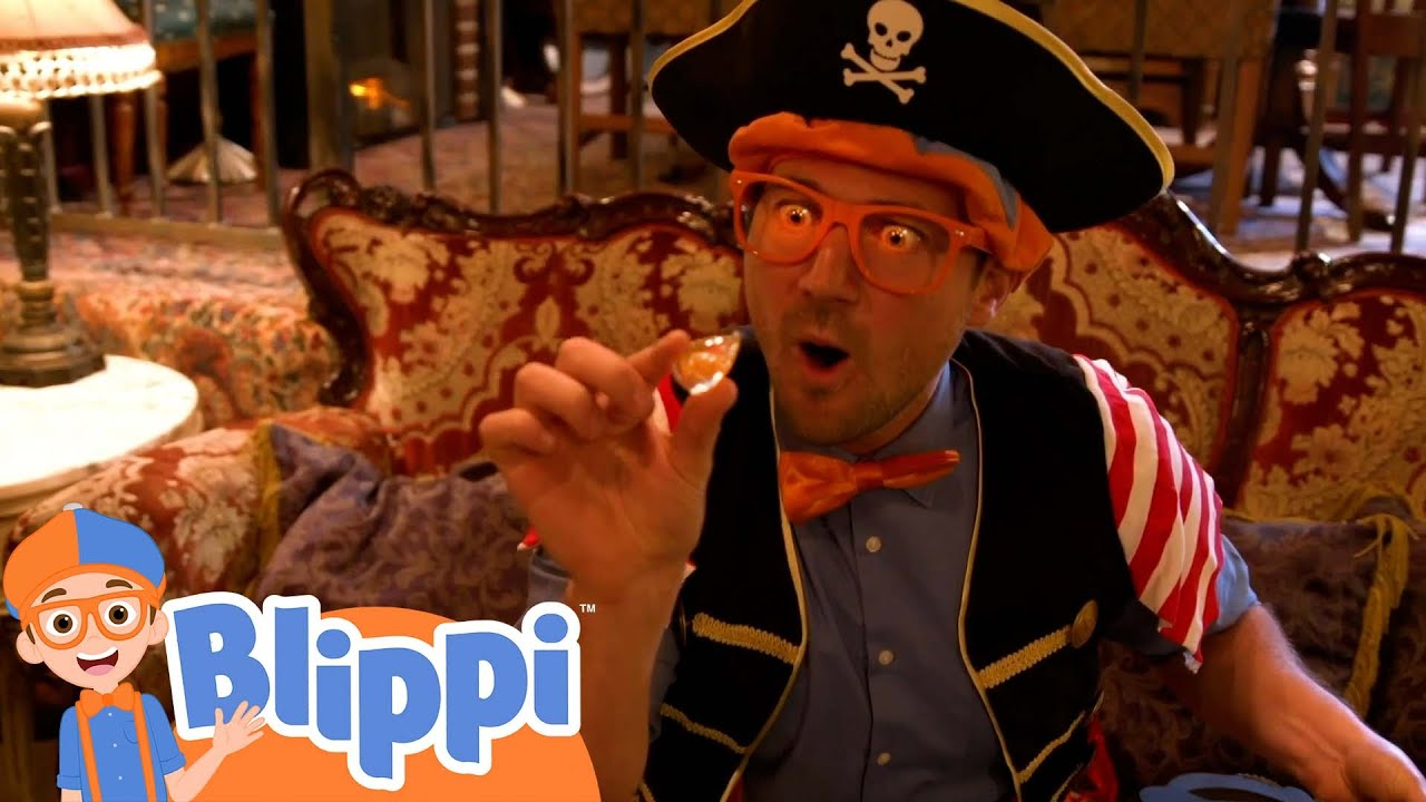 It's a Pirate Life - Searching for the Buried Treasure Gold | Blippi Learns