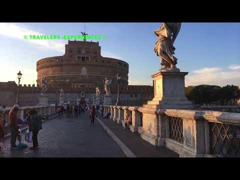 Rome Bridge of Angels & Sant Angelo 4K Travel Video